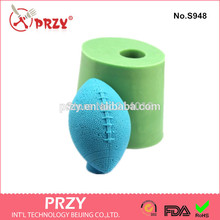 przy Rugby handmade soap mold fondant Cake decoration mold soap mold 100% food grade raw material Jelly mold No.S948