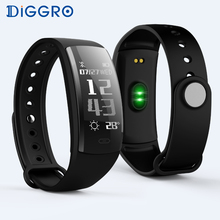 Diggro QS90 Smart Wristband Bracelet Bluetooth Heart Rate Monitor Pedometer Waterproof IP67 Health Sports Fitness for Android