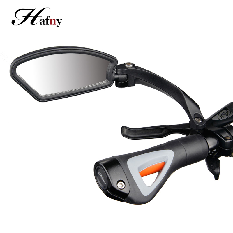 Hafny Bicycle Handlebar Side Safety Rearview Mirror Cycling Stainless Steel Len Blind Spot Mirrors MTB Flexible Rear View Mirror