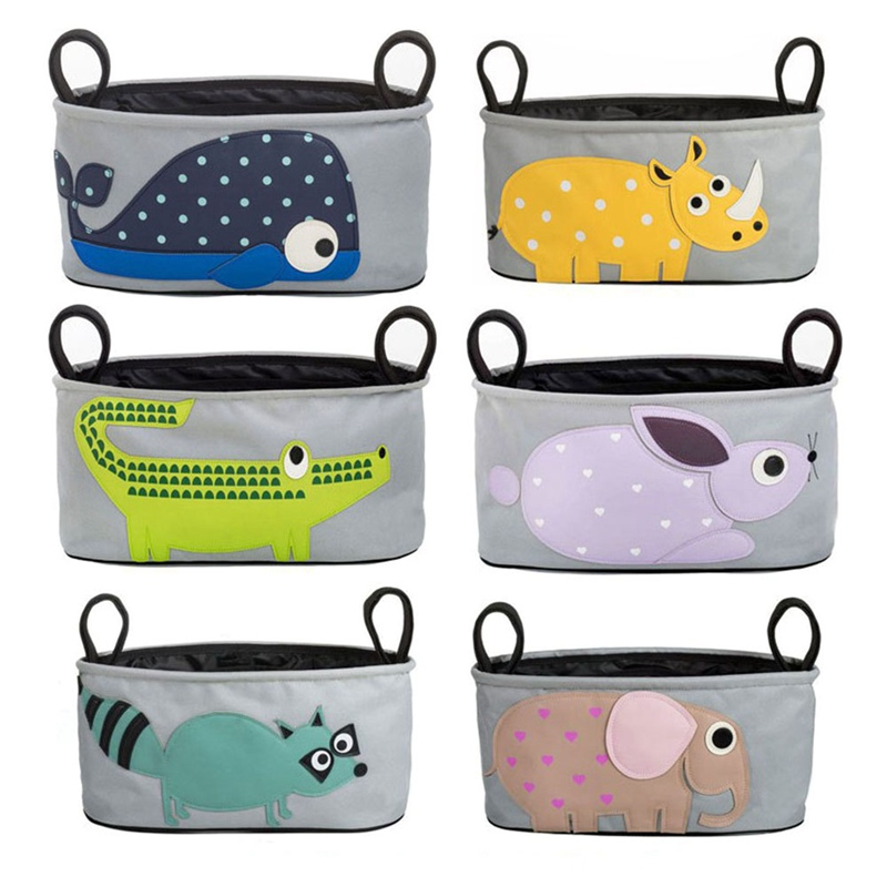 Baby Stroller Organizer Bag Car Basket Hanging Storage Bag For Pram Mummy Bag Buggy Organizer Animals Desi Stroller Accessories