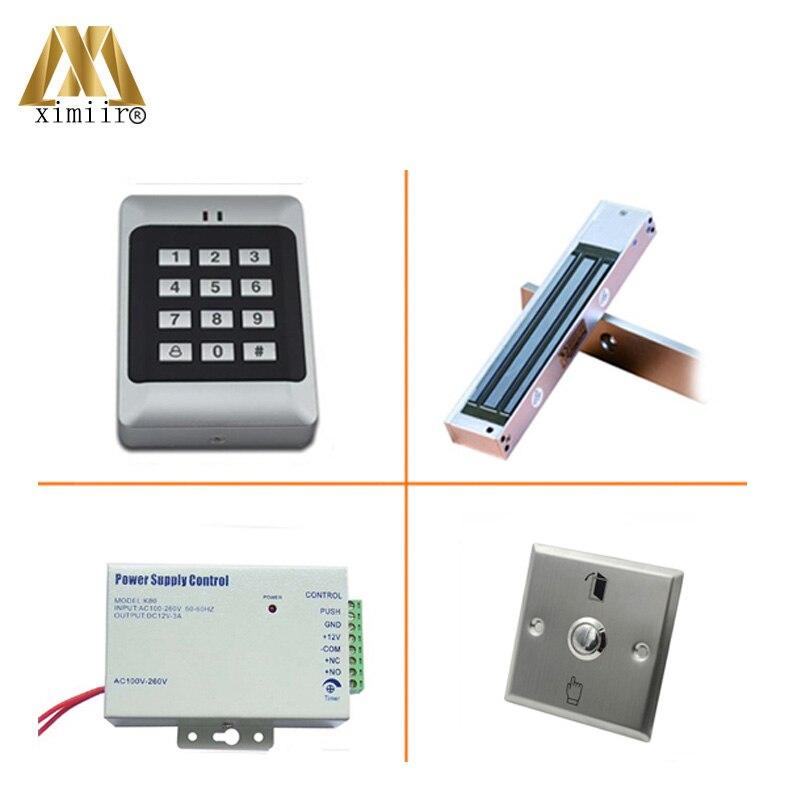 RFID Reader Deur Access Control Met Toetsenbord Enkele Deur Toegangscontrole Systeem Met Elektromagnetische Slot Voeding Standalone - 5