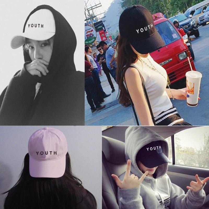 1pc Unisex 100% Cotton Hip-Hop Fashion Adjustable   Baseball     Cap   Snapback Hat Letter Print Sports Trucker
