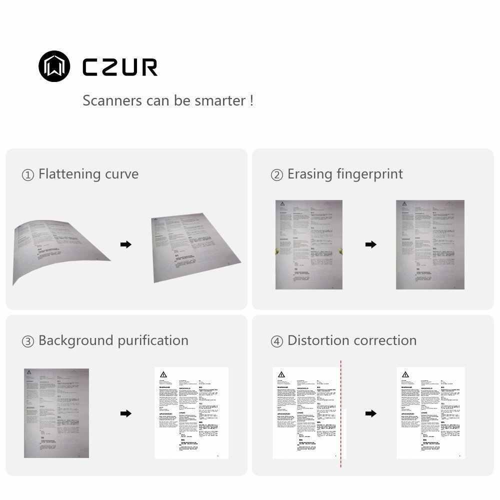 CZUR ET16 プラスブック Ocr 機能 16MP HD カメラ、 a3 A4 ドキュメントフォト高速リーダー Pc の Windows 用の Mac