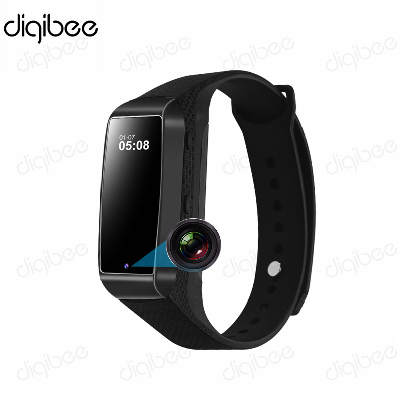 Spied Smart Bracelet Wristband HD 1080P Mini Camera Time Display Pedometer Sleep Monitor Sport Fitness Chip Sport Camera Watch