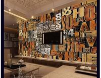3D Wallpaper Custom 3d Wall Picture Murals 3d Wall Paper Mural 3D Wood Carving Alphabet Digital
