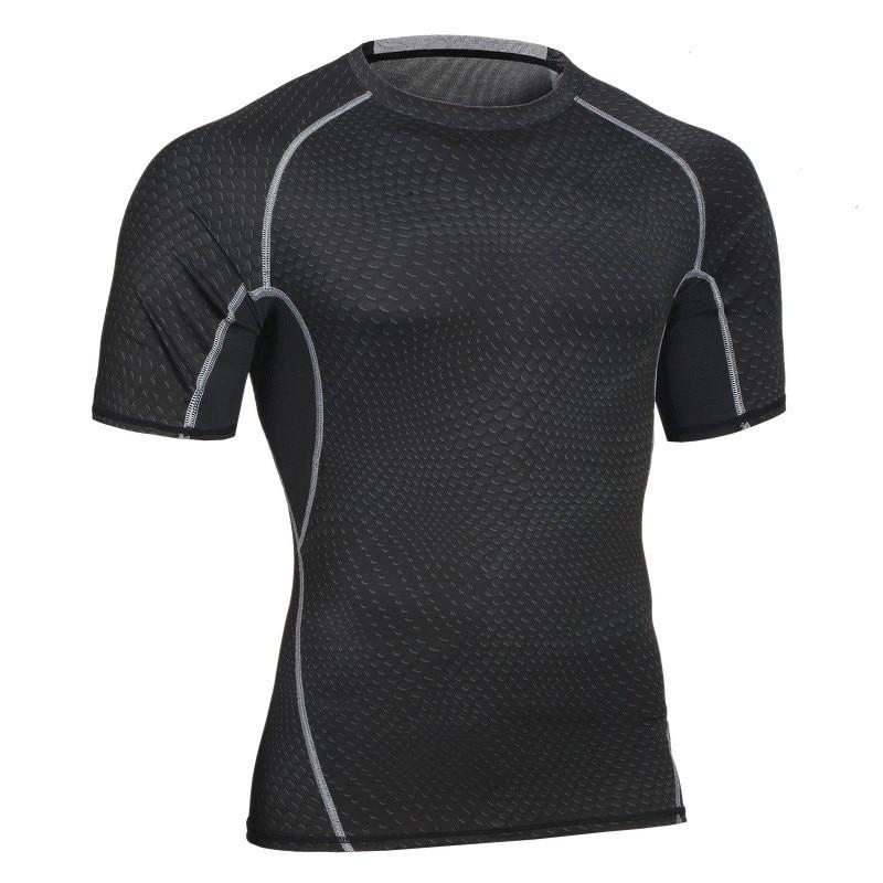 뉴 세일 남성 피트니스 셔츠 열 근육 쉐이핑 통기성 티셔츠 운동 빠른 건조 압축 남성 셔츠