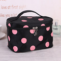 Women Nylon Storage Handbag Portable Cosmetic Bag Organizer Travel Toiletry Professional Makeup Bag Maleta De Maquiagem Vanity