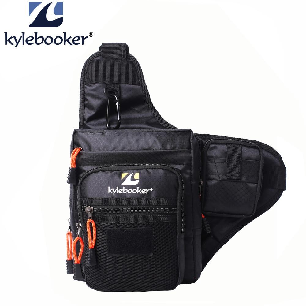 Fishing Waist Bag Satchel Multi-Purpose Shoulder Outdoor Sport Bags Fly Pad Kits