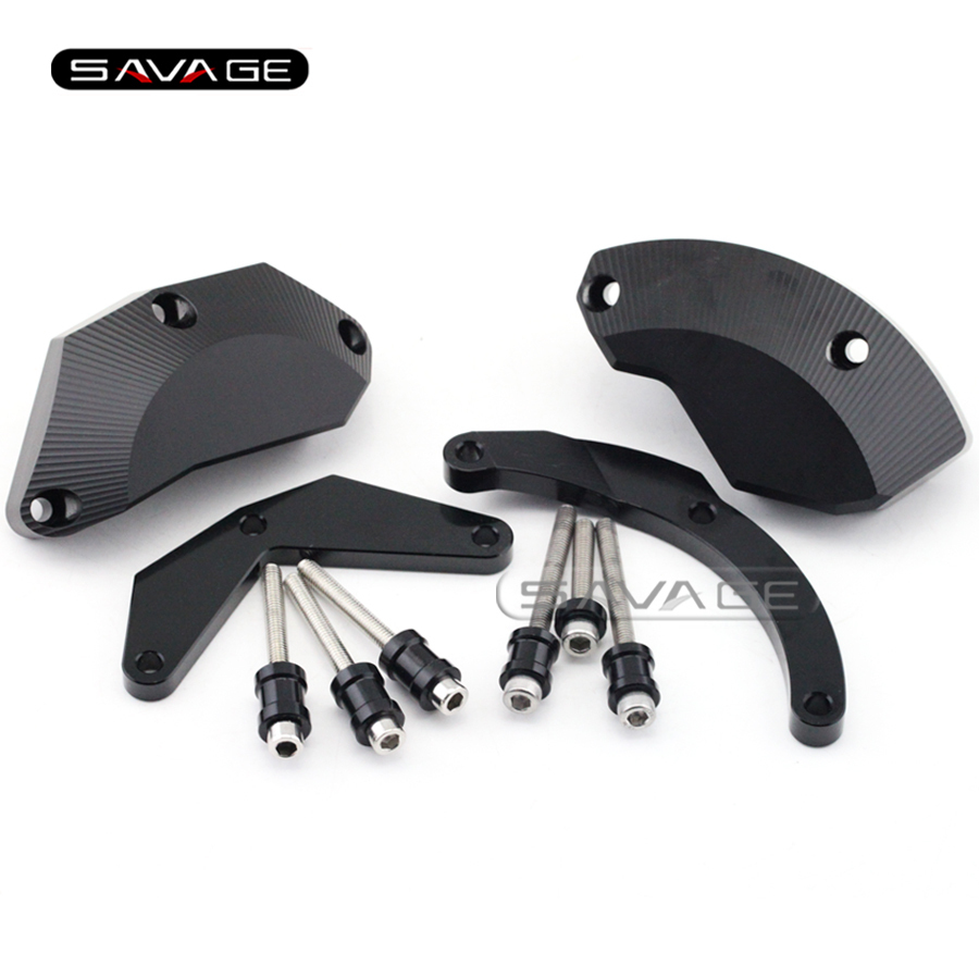 For KAWASAKI NINJA ZX-10R ZX10R 2011 2012 2013 2014 Motorcycle Engine Case Guard Cover Frame Slider Crash Protector Set Black for kawasaki zx 10r zx10 zx 10r 2011 2014 2012 2013 motorcycle accessories radiator grille guard cover fuel tank protection