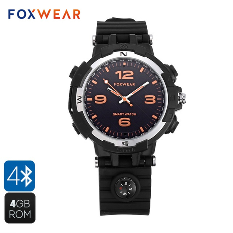 FOXWEAR F35 MP3 Smart Watch Bluetooth Wireless Sports Tracker Pedometer Calorie Calls Reminder Sleep Monitor Fashion Wristwatch