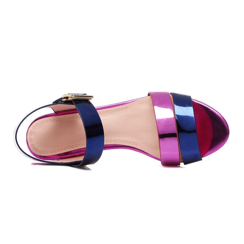 Ayakk.'ten Yüksek Topuklular'de FEDONAS Yeni Gladyatör Kadın Hakiki Deri Sandalet Kristal Yüksek Topuklu mix renk moda ayakkabılar Kadın Kadın Düğün Parti Sandal'da  Grup 3