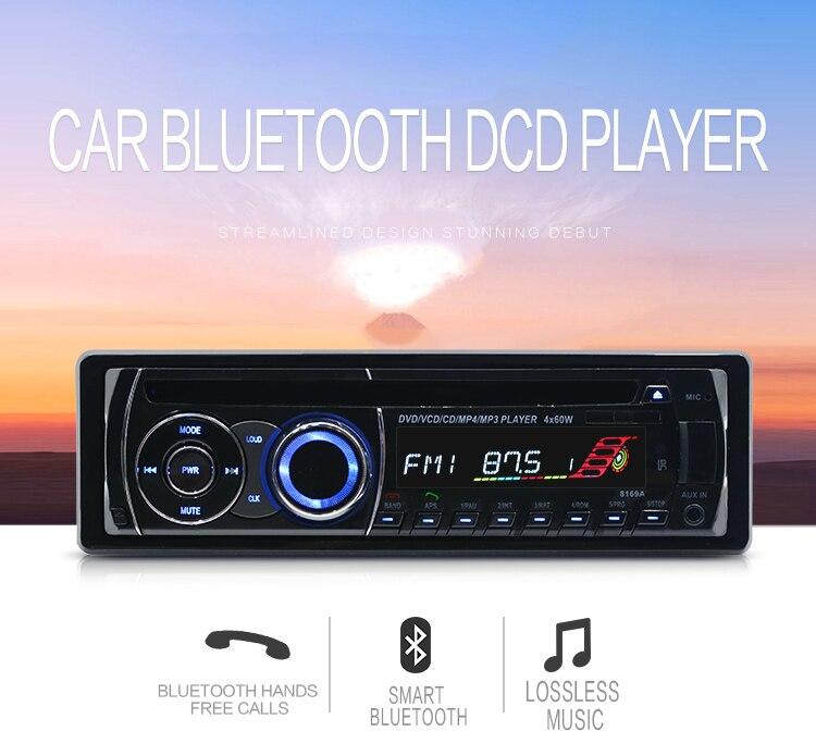Autoradio universel 1 Autoradio voiture lecteur Audio CD DVD MP3 lecteur FM AUX SD/USB Autoradio lecteur CD voiture 1din