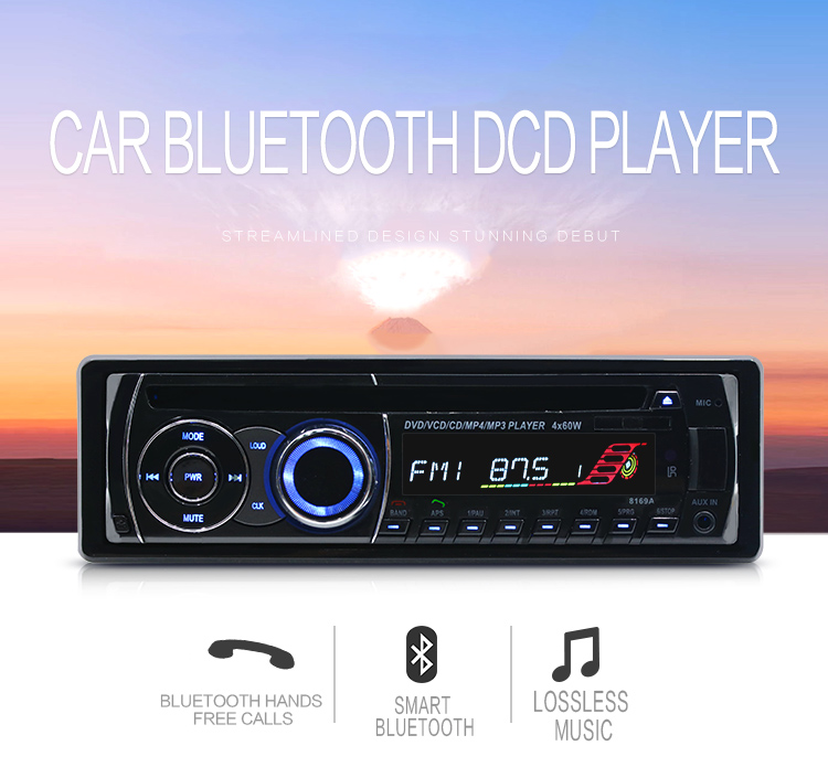 Universal CD Radio 1 Din Car Radio Car Audio Player CD DVD MP3 Player FM AUX SD/USB Port Auto Radio Car CD Player Autoradio 1din mayer boch