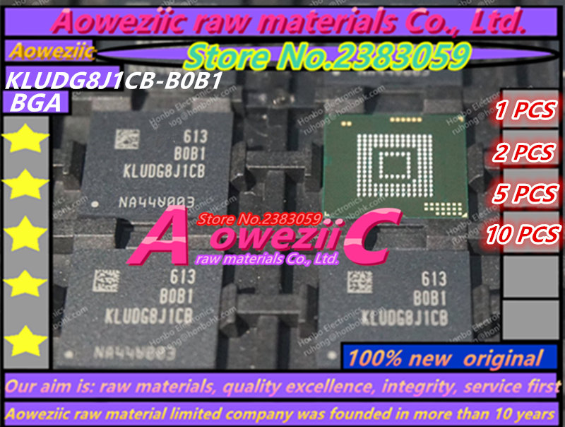 Aoweziic 2017+ (1PCS) (2PCS) (5PCS) (10PCS) 100% new original KLUDG8J1CB-B0B1 BGA memory card chip 128G
