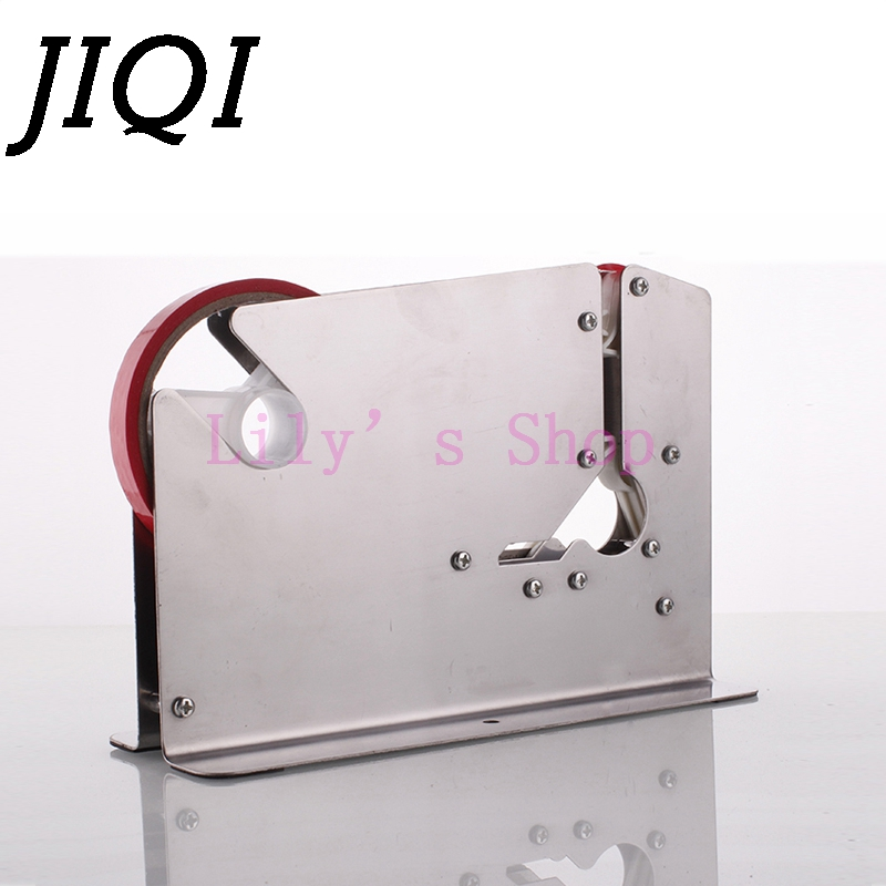 JIQI Stainless steel supermarket plastic bag sealing machine food packing Fruit shop packer mini portable tape cutter dispenser 100 pcs stainless steel tip red plastic shell 25g dispenser needles
