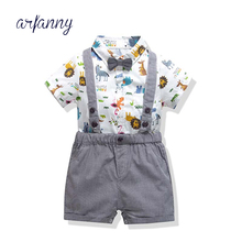 Summer Baby Boy Clothes Toddler Set  Baby Suit Dinosaur pattern Shorts Triangle shirt Pants Outfit Boys Clothing Kid sets baby girl boy clothing sets 2018 cartoon pattern autumn winter warm toddler vest shirt pants 1 2 3 4 years kid clothing suit