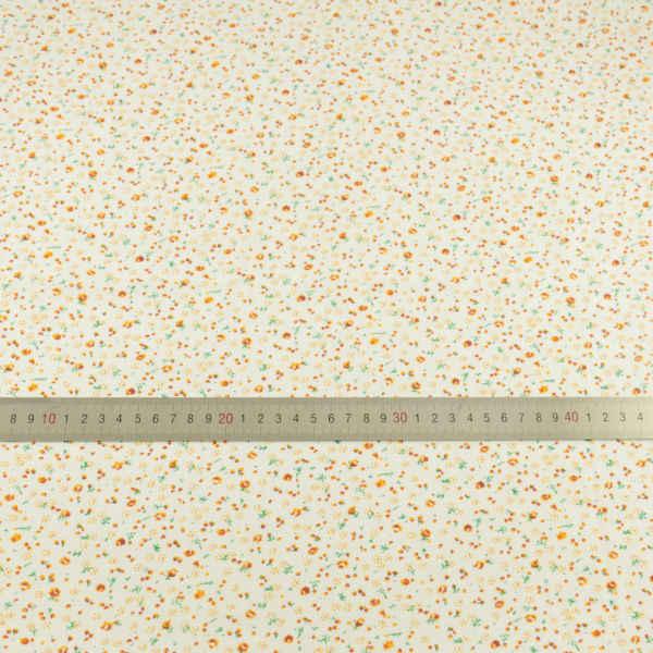 Ремесленные куклы 100% хлопок ткани маленький оранжевый цветок дизайн текстиль швейная ткань Жир четверти Telas ткань для тильды лоскутное платье