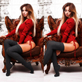 Xl Plus Size 2016 New Fall Fashion Female Hot Sexy Slim Color Leotard Jumpsuits Red Pink Black Bandage Bodysuits
