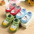 Calcetines del piso del niño primavera y otoño bebé calcetines calcetines de bebé tobillo calcetín antideslizante 100% zapatos de niño de algodón acolchado plataforma