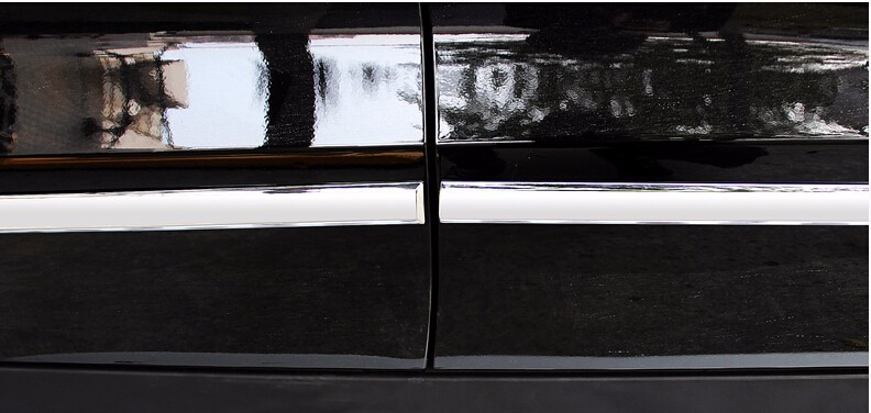 chrome side door molding trim for Mercedes Benz ML accessories car styling (12)