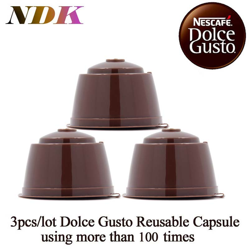 3 pcs pack refillable dolce gusto coffee capsule nescafe dolce gusto reusable capsule reuse. Black Bedroom Furniture Sets. Home Design Ideas