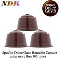 3 pcs/pack Refillable Dolce Gusto coffee Capsule nescafe dolce gusto reusable capsule reuse refilling pod dolce gusto	cafeteira