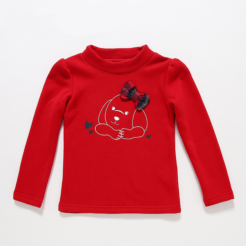 T100 Girls T-shirts  Long Sleeve T-shirts Cotton Kids Baby Clothes 2017 T-shirt For Girls Turtleneck Brand T-shirts for children
