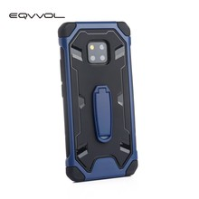 Eqvvol Armor Shockproof Phone Case For Huawei Mate 20 Pro P20 Lite P smart Bracket Cases Stand Holder Cover Airbag Drop Case(China)