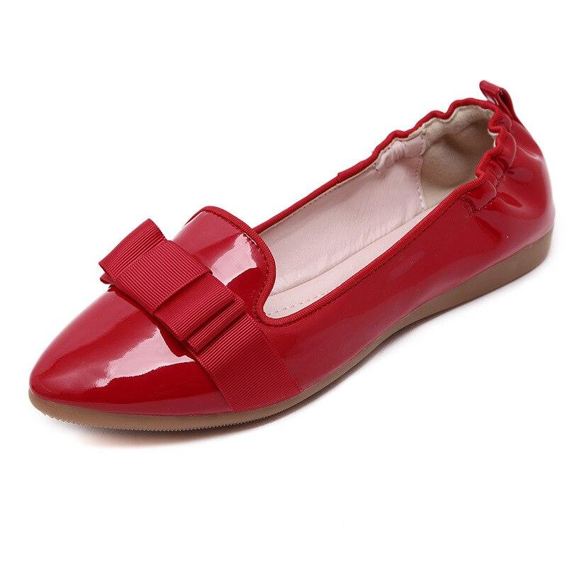 2016 new Fashion bow point toe flat shoes font b women b font ballet flats font