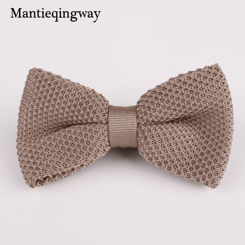Mantieqingway Knitted Bow Tie Men Solid Bowknot Wedding Bavy Blue Bowties Pink Party Butterfly Knitted Bow Ties For Men Gifts