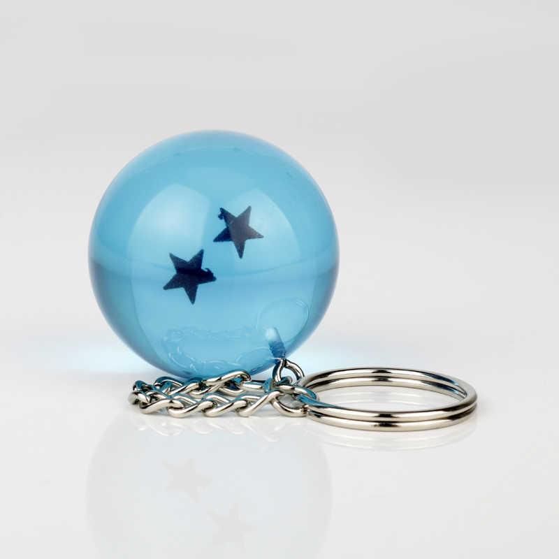 Boys Anime Takı Anahtarlık dragon topu Mavi pvc 1-7 Yıldız Plastik Top Kolye keyholder Goku süspansiyon anahtarlıklar bijuteri