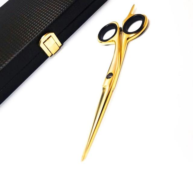 M-29 Customized 6 Inches Golden Metal Hairdressing Beard Scissors  1