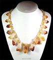 N15012902 Natural Citrine Point Necklace Crystal Citrine Statement Necklace 20inch