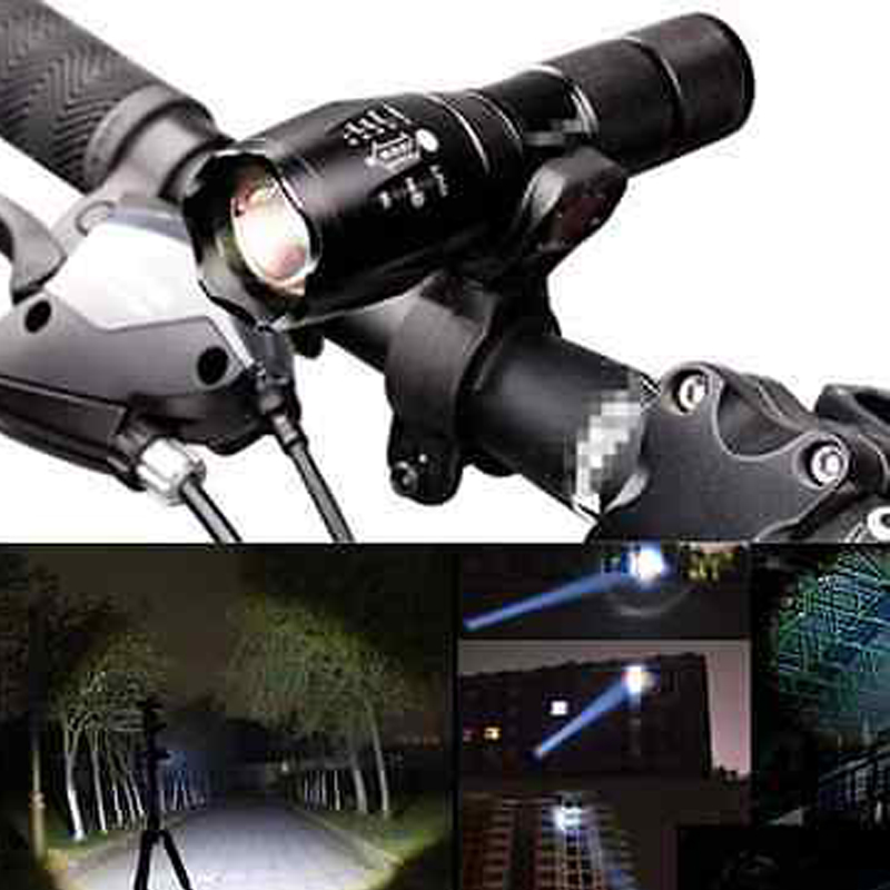EU RU New Bicycle Light 3800 Lumens 5 Modes CREE XM-L T6 LED Bike lights Lamp Front Torch Waterproof lamp + Holder