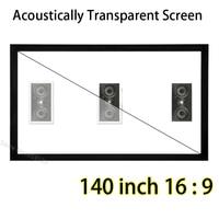140 pulgadas ST Pantallas de Marco Fijo de Sonido Acústicamente Transparente 16 A 9 Soporte 3D Proyector de Cine