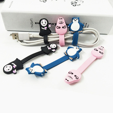 10piece Cartoon faceless male earphone winder mobile phone data cable storage clip line charging finisher