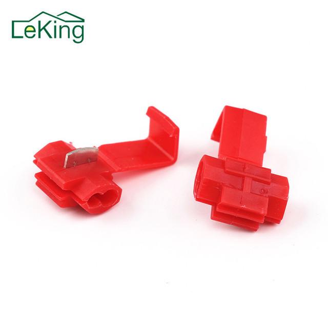 LeKing 50 Pcs/set PVC Wire Crimp Terminals Connector Quick Splice Wiring Cable Clamp Red Connection Wholesale Maintenance Tools