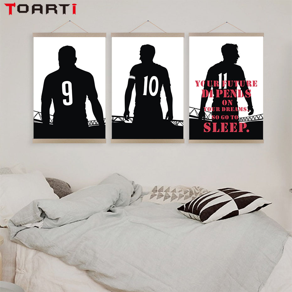 Cool Sport Black Basketball Stars Canvas Painting Wall Art Posters And Prints Wall Pictures For Boys Bedroom Home Decor No Frame in Painting Calligraphy from Home Garden