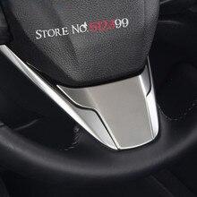 1 * салона ABS Матовый интимные аксессуары U форма литье руль декоративное покрытие Накладка для Honda CRV CR-V 2017 2018