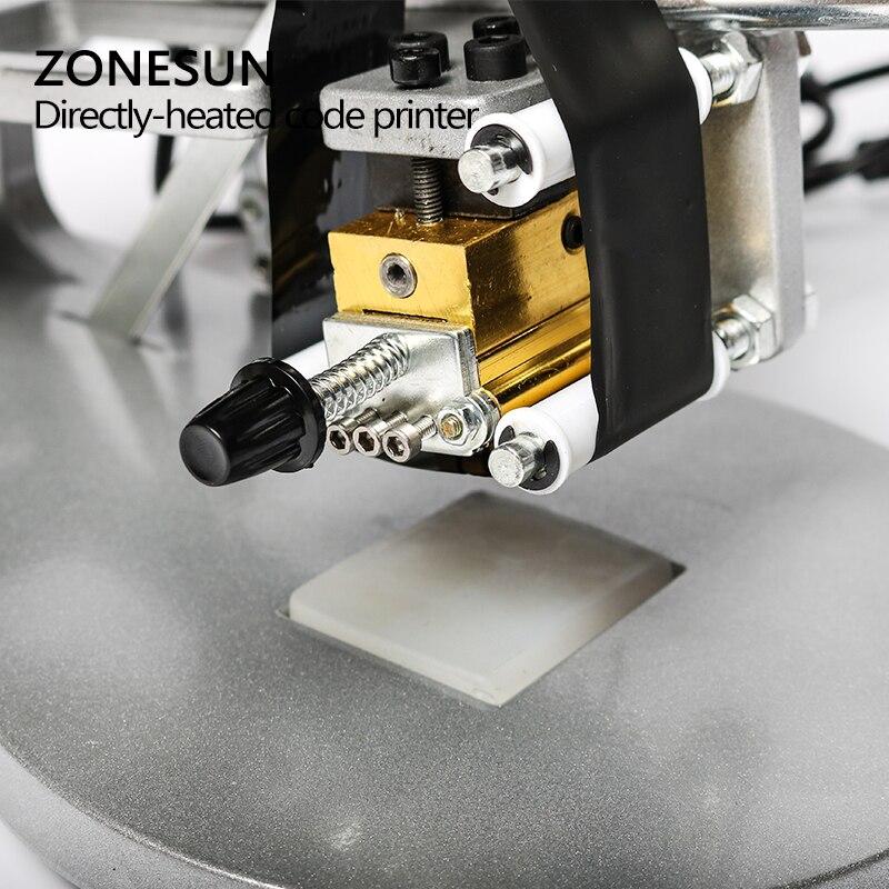 Machine de codage de date ZONESUN imprimante de code de date d'expiration manuelle, codeur de timbre Foll chaud, machine de date d'expiration - 6