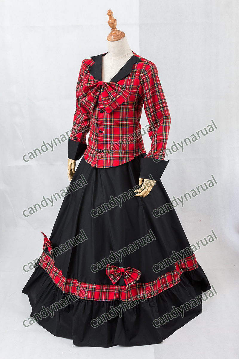 ZNCJ Lolita Cosplay Dress Adult Red Black Victorian Schoolgirl Checked Long  Sleeve-in Lolita Dresses from Novelty   Special Use on Aliexpress.com  8ac7fb843117