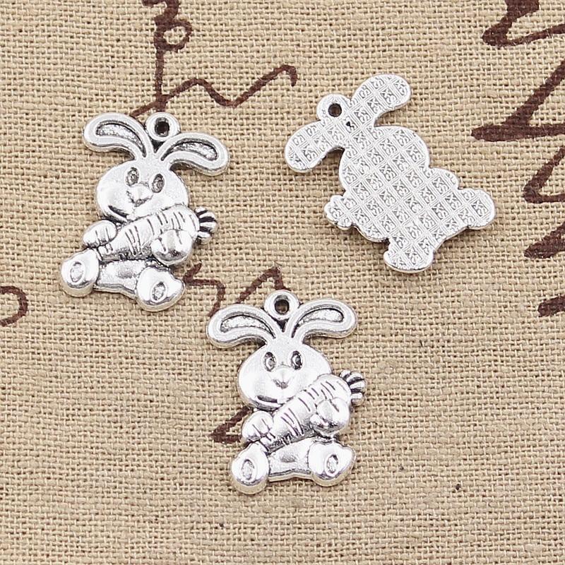 20//200pcs 20x10mm Antique Silver Bronze Fox Tibetan Charms Pendants LF