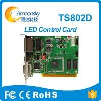 Amoonsky Hot Selling Linsn Ts802d Led Sending Card Hdmi Video Sender 1024 Dmx Controller Led Control