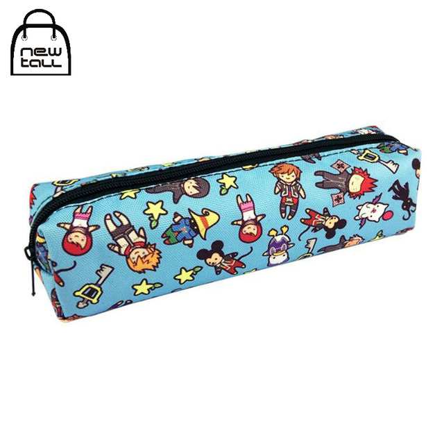 US $5 39 |Newtall Anime Kingdom Hearts Sora Cances Pencil Case School For  Boys Zipper Makeup Cosmetic Bag For Girls New Fashion Cartoon -in Cosmetic