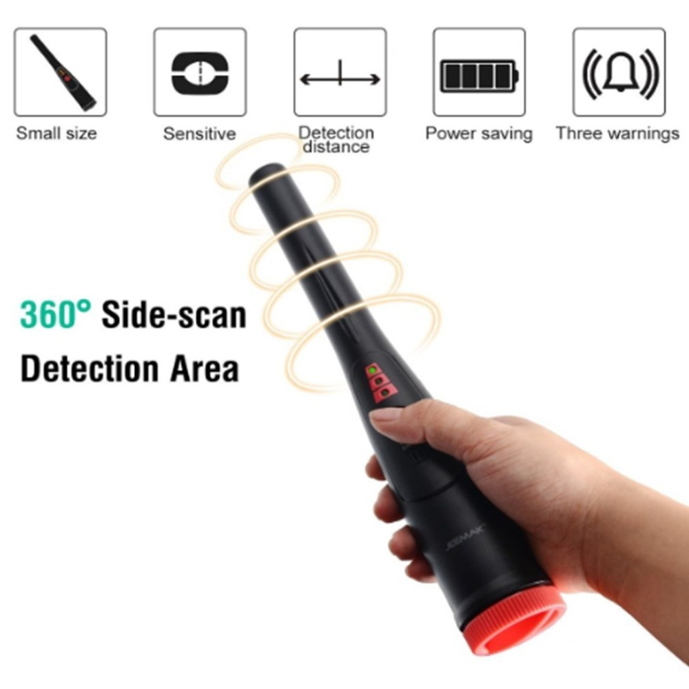 Metal Detector Portable Pin Pointer Treasure Hunter Hunting Tool Automatic Tuning Buzzer Vibrate With LED Indicator