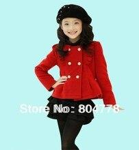 Новая мода весна/осень девушка 2 шт. одежда устанавливает роскошные рождество red top + короткие дети костюмы 5 шт./лот