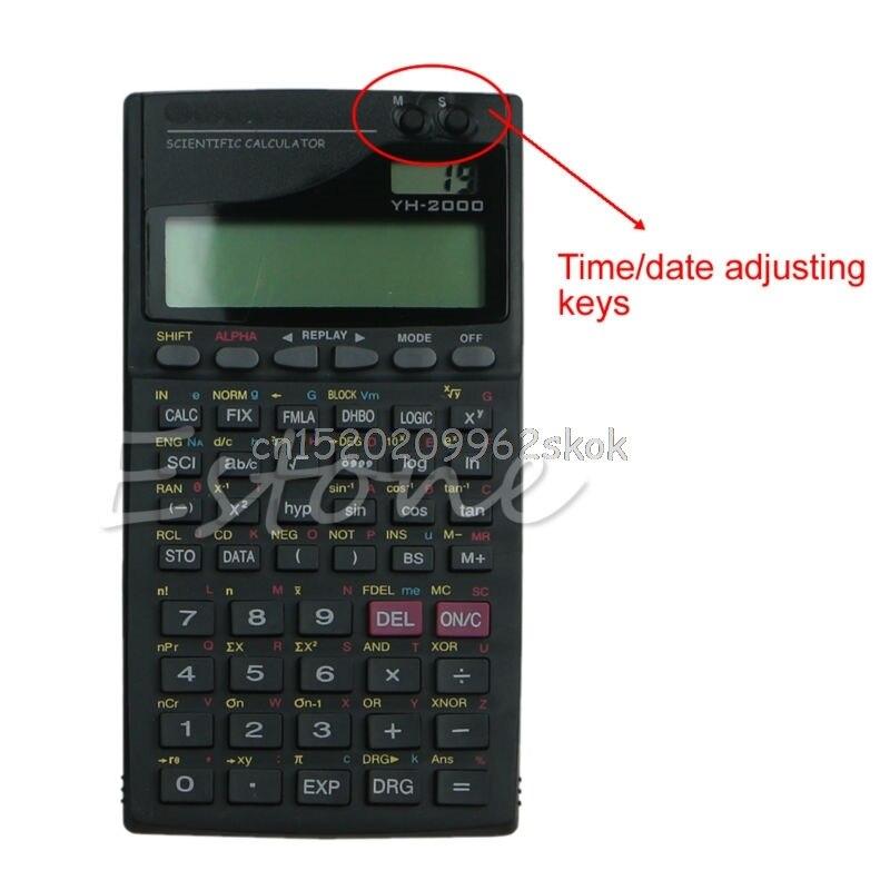 1 шт. черный Цвет 2.5 ЖК-дисплей Экран дисплея Портативный ручной 2000a научных Функция калькулятор # h029 #