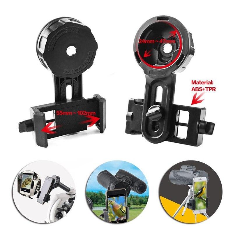 Dropshipping rápido del teléfono fotografía soporte adaptador conector para iPhone telescopio prismáticos Monocular microscopio