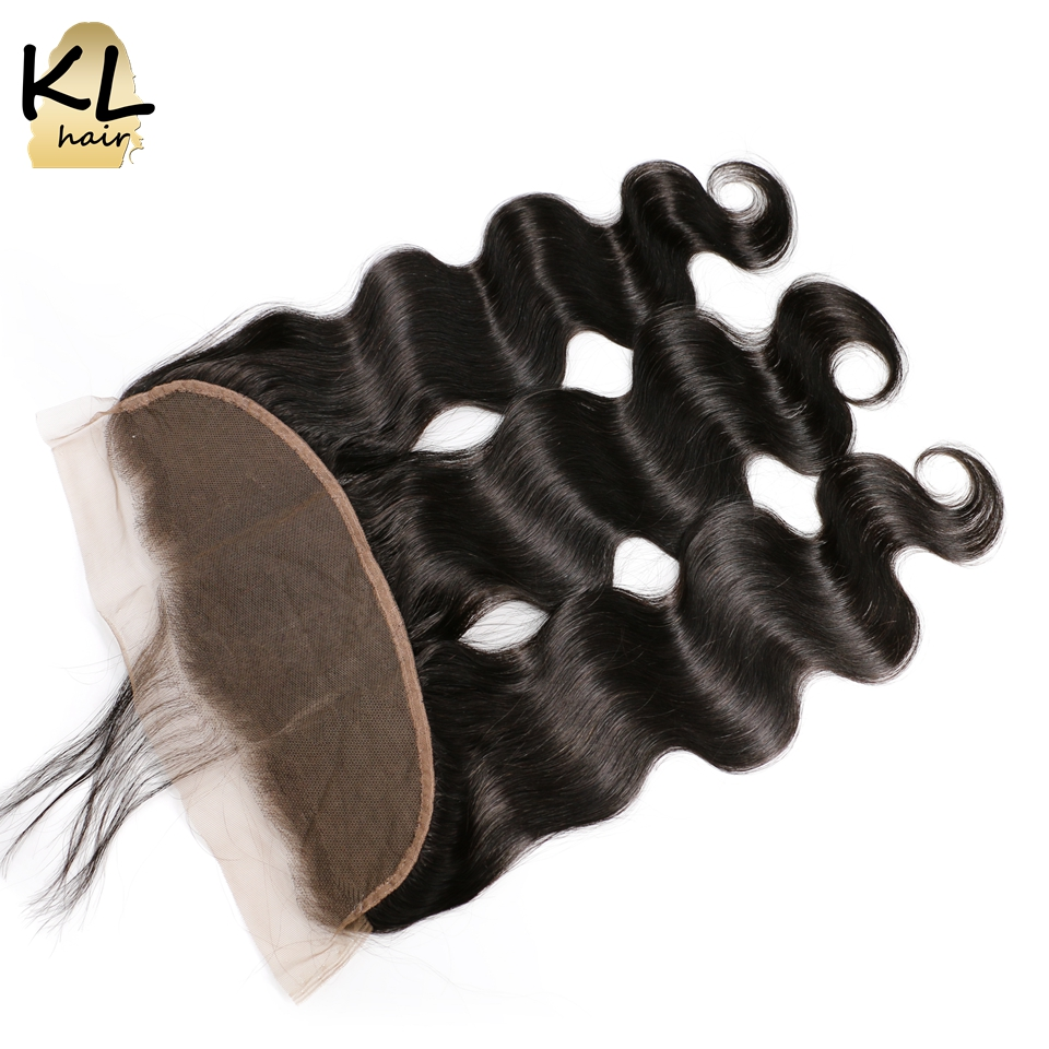 KL Hair Brazilian Body Wave Lace Frontal Closure 13 4 Ear To Ear Pre Plucked Lace
