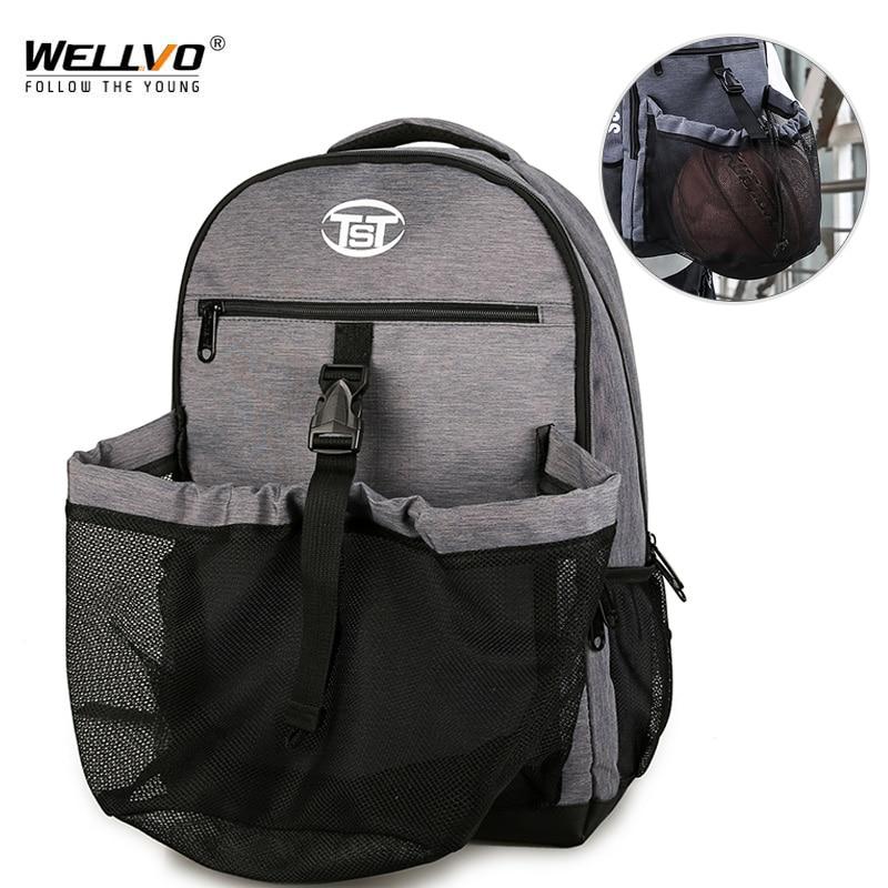 Men's Gym Bags Basketball Backpack School Bags For Teenager Boys Backpacks Large Women Laptop Bag Football Net Bag 2019 XA172ZC